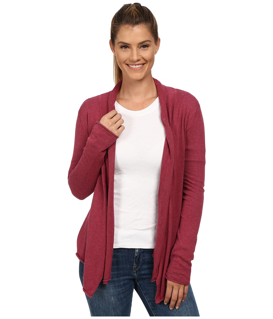 Prana - Georgia Wrap (Plum Red) Women's Sweater