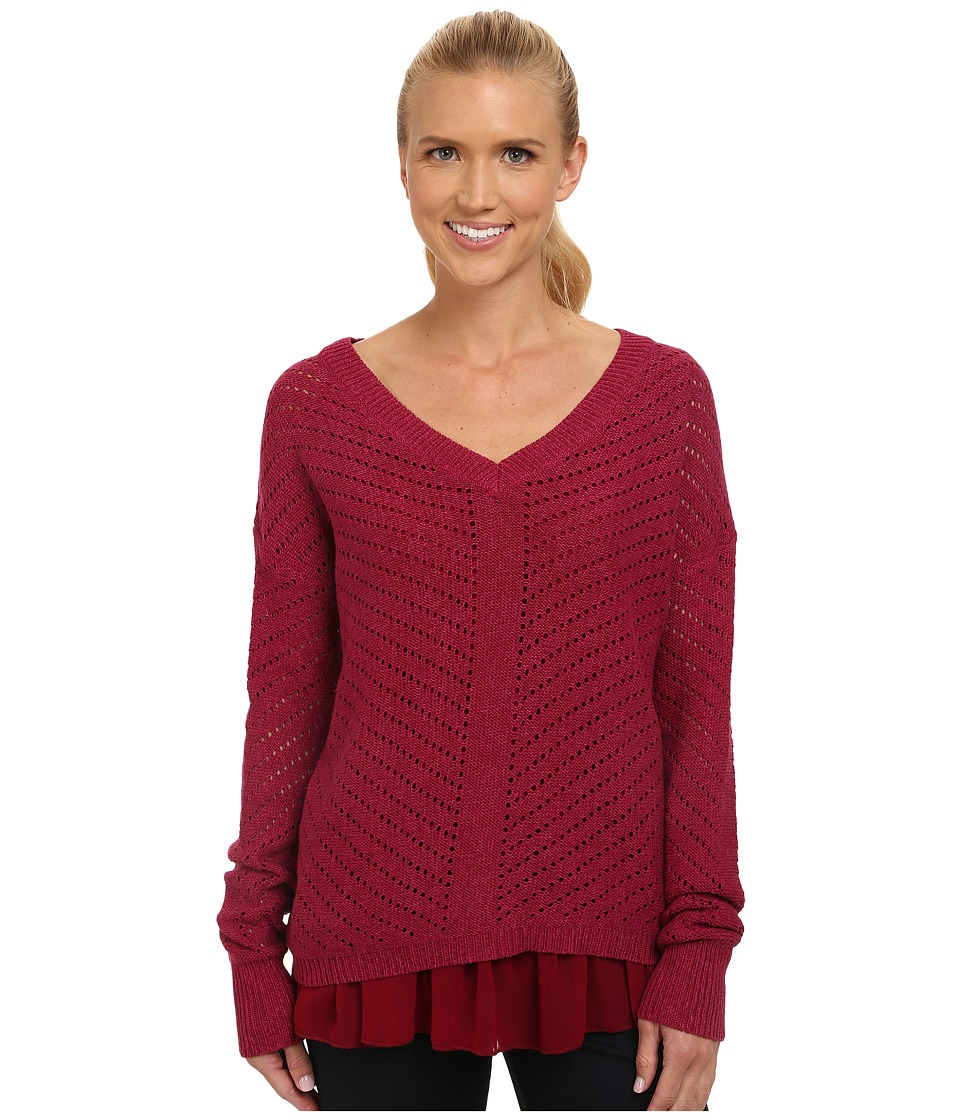 Prana - Ellery Sweater (Plum Red) Women's Sweater