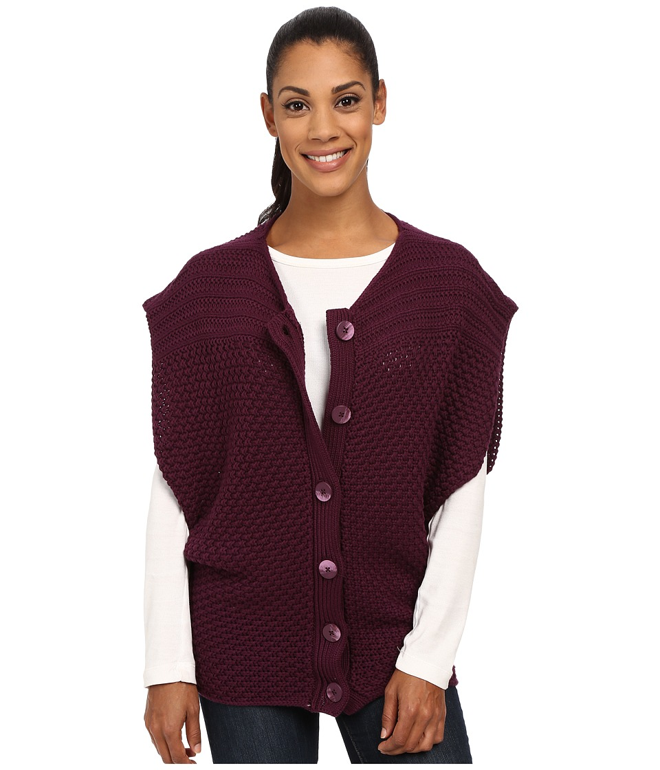 Prana - Estee Sweater Vest (Black Plum) Women's Vest