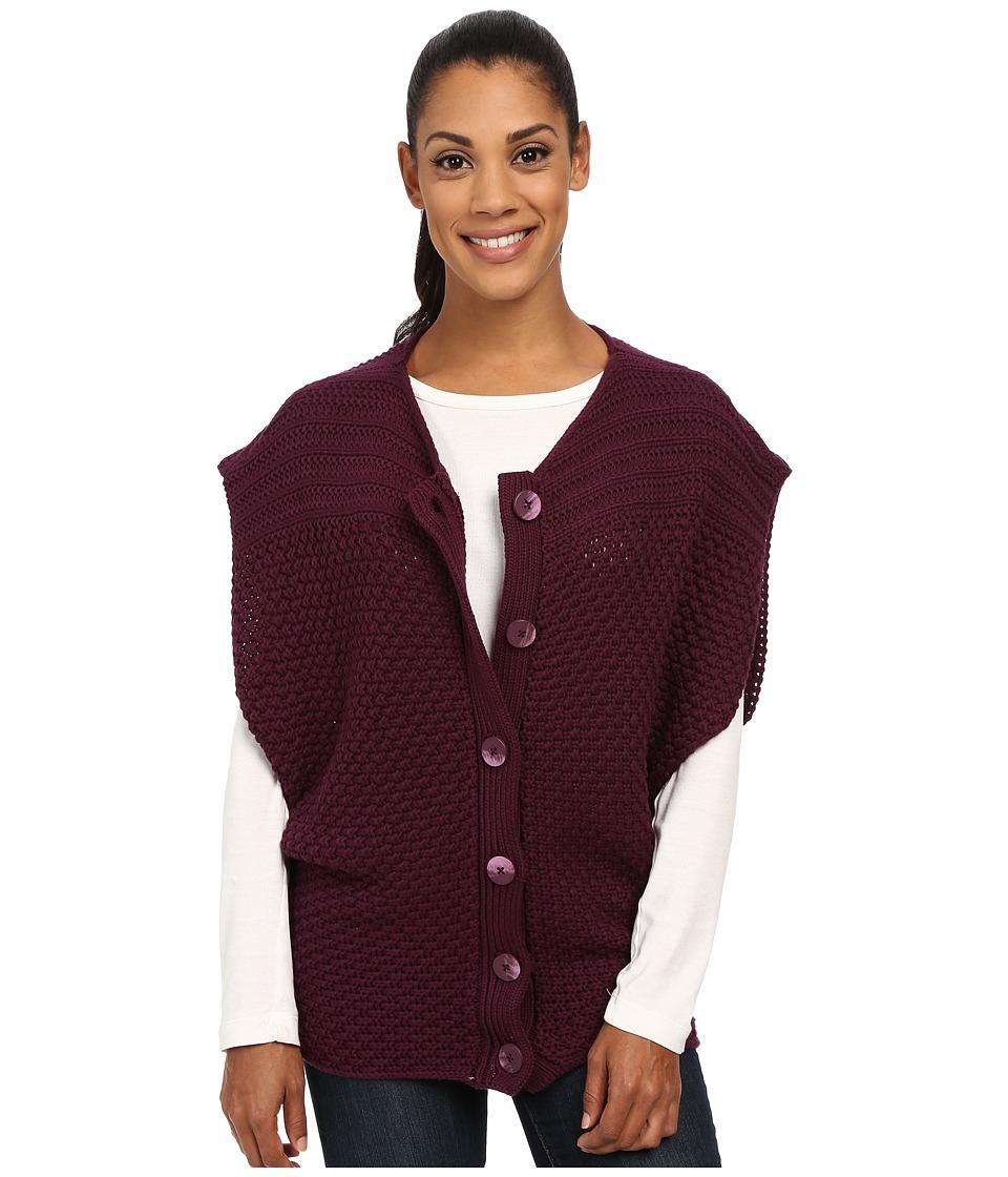 Prana - Estee Sweater Vest (Black Plum) Women's Vest