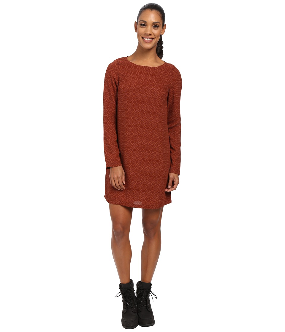 Prana - Cece Long Sleeve Dress (Pomegranate) Women's Dress
