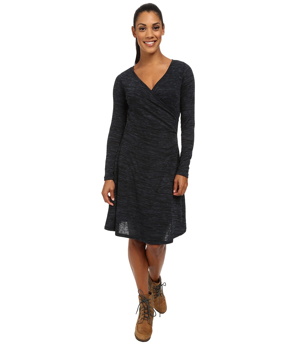 Prana Nadia Long Sleeve Dress (Coal) Women