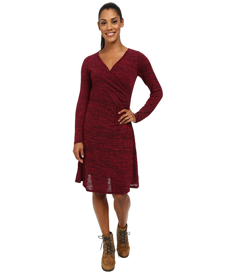 Prana - Nadia Long Sleeve Dress (Plum Red) Women's Dress