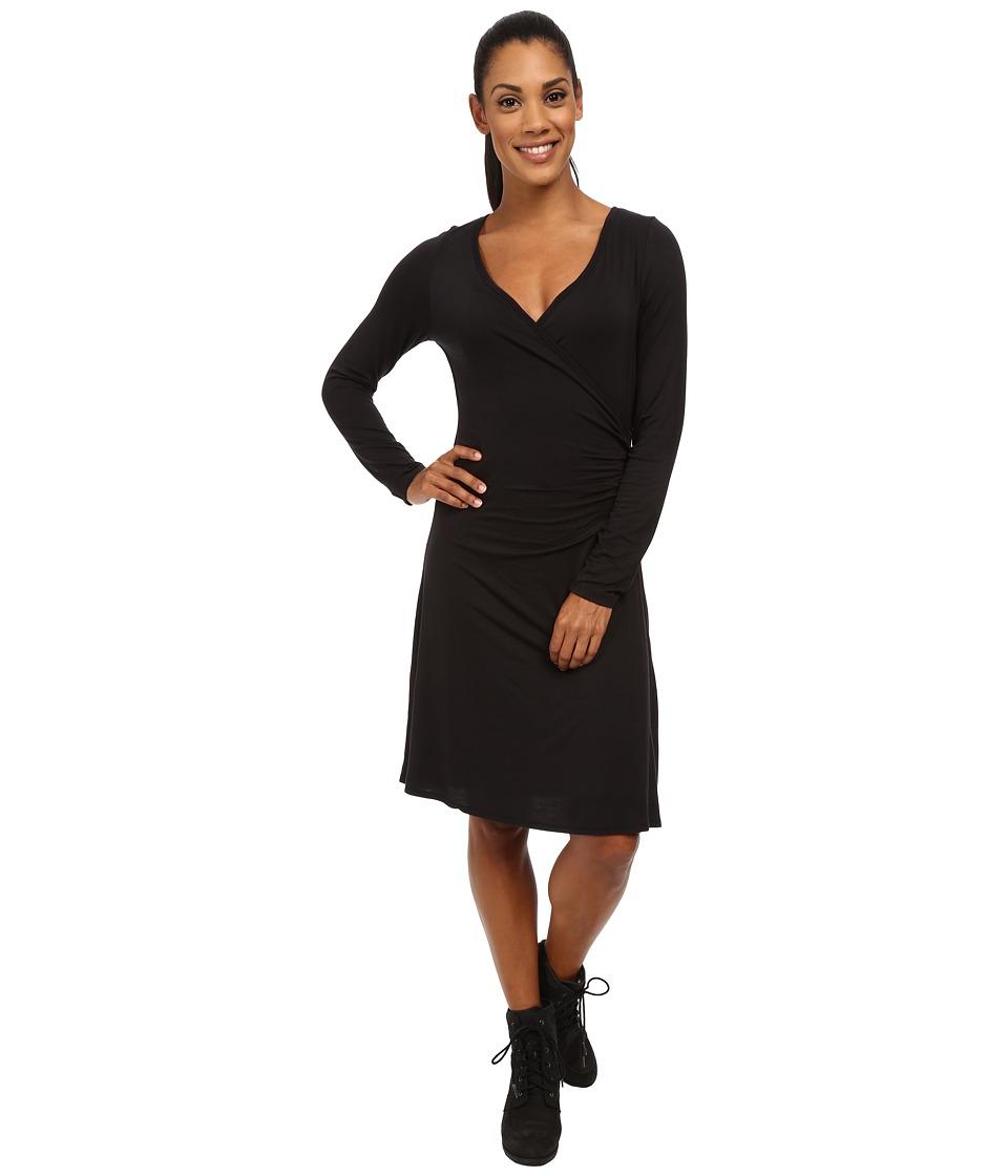 Prana - Nadia Long Sleeve Dress (Black) Women's Dress
