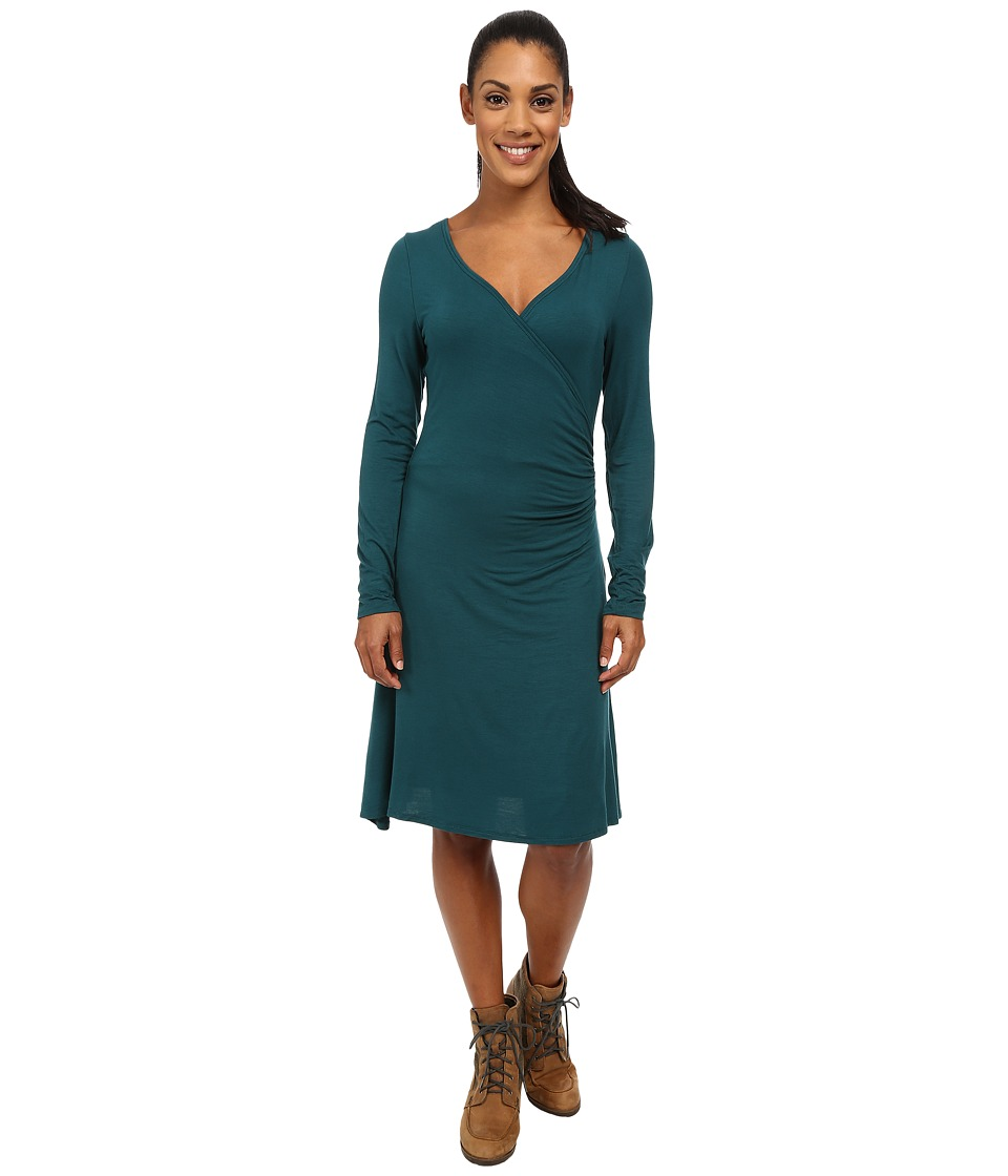 Prana - Nadia Long Sleeve Dress (Deep Teal) Women