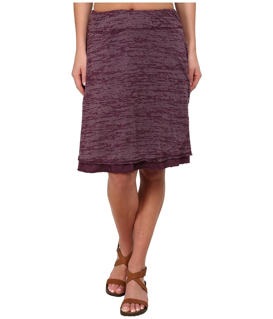 Prana - Tyda Skirt (Black Plum) Women
