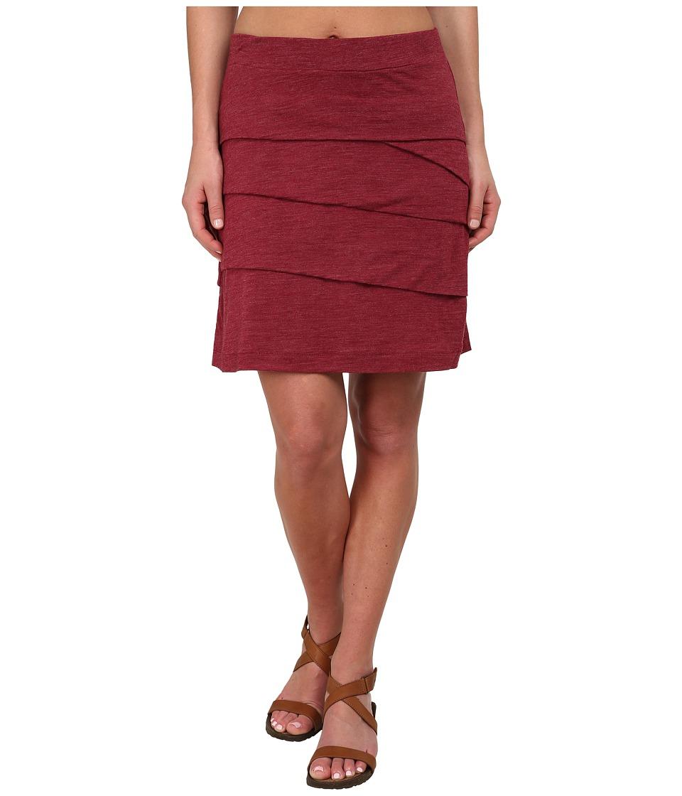 Prana - Leah Skirt (Plum Red) Women's Skirt