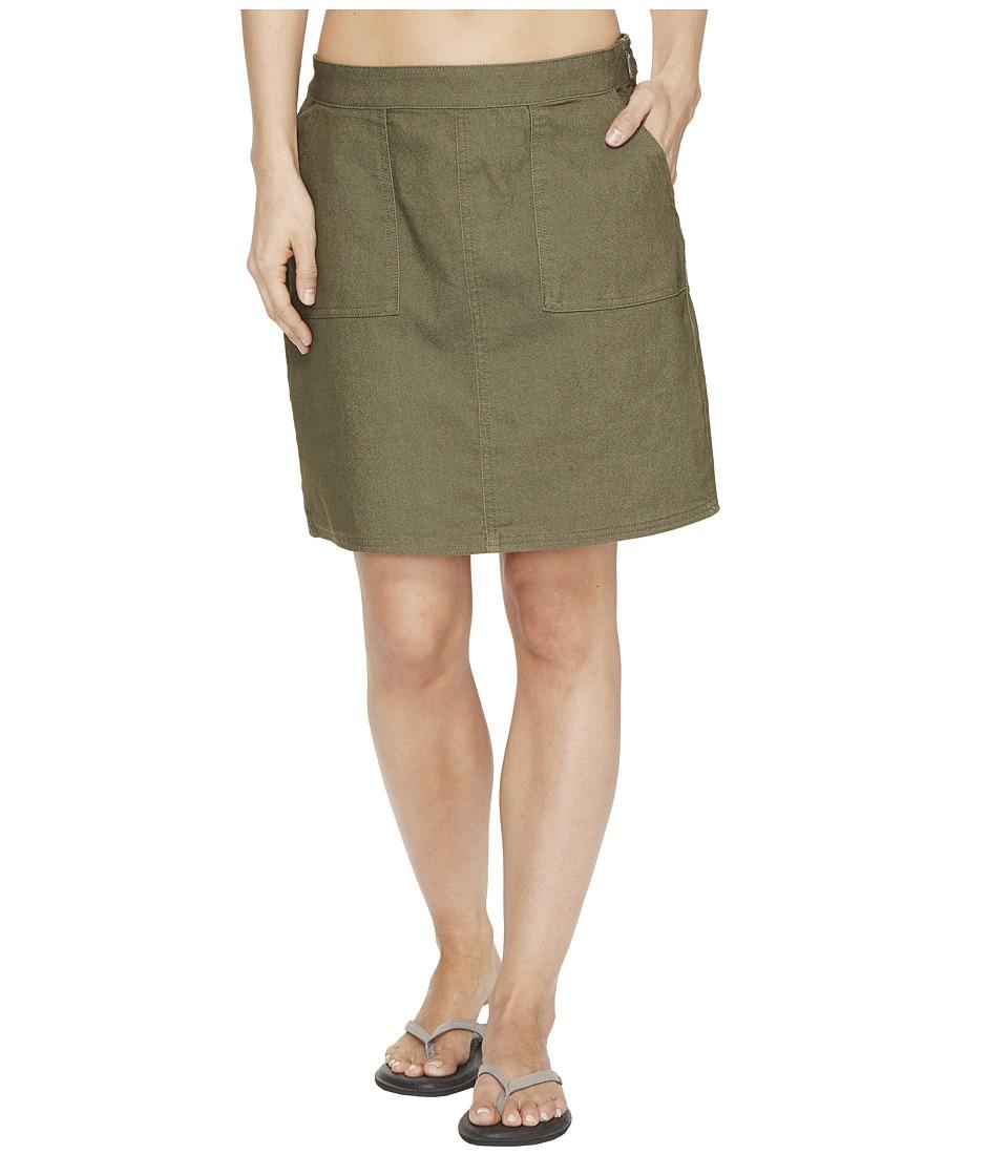 Prana Kara Skirt (Cargo Green) Women