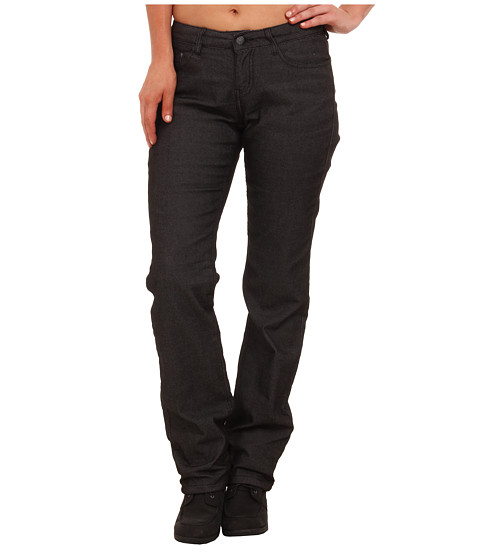Prana - Lined Kara Denim Boyfriend Jeans (Black) Women's Jeans