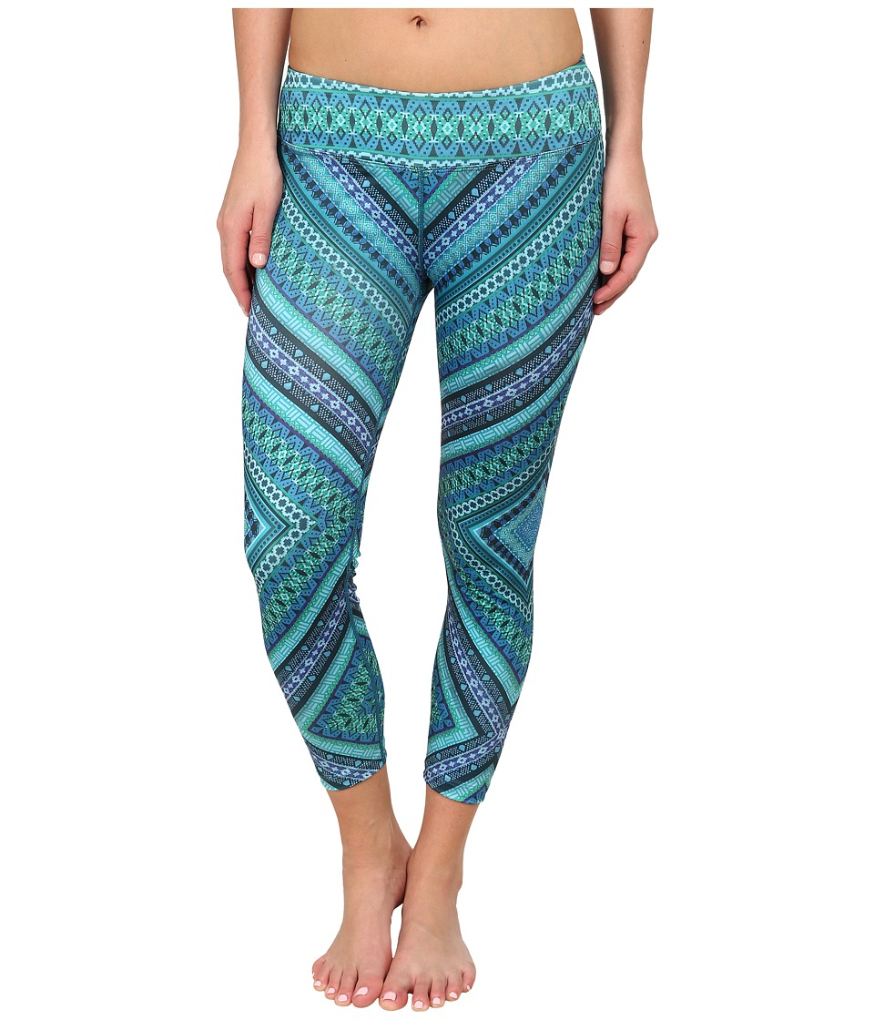 Prana - Roxanne Printed Legging (Green Chili) Women's Casual Pants