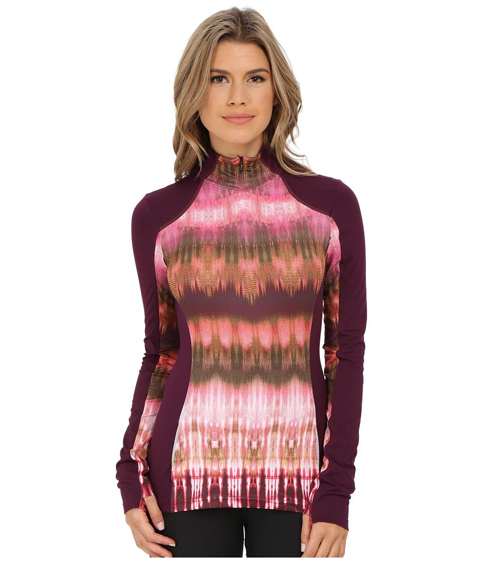 Prana - Sierra 1/4 Zip (Black Plum) Women's Long Sleeve Pullover