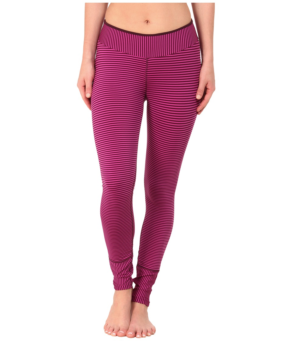 Prana - Sapphire Legging (Black Plum Stripe) Women's Casual Pants