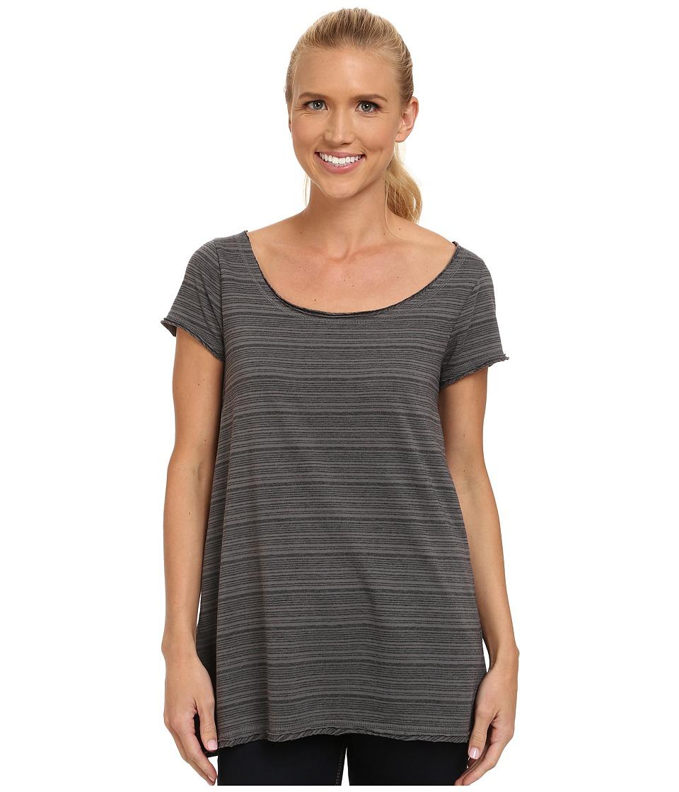 Prana - Elin Top (Gravel Stripe) Women's Short Sleeve Pullover