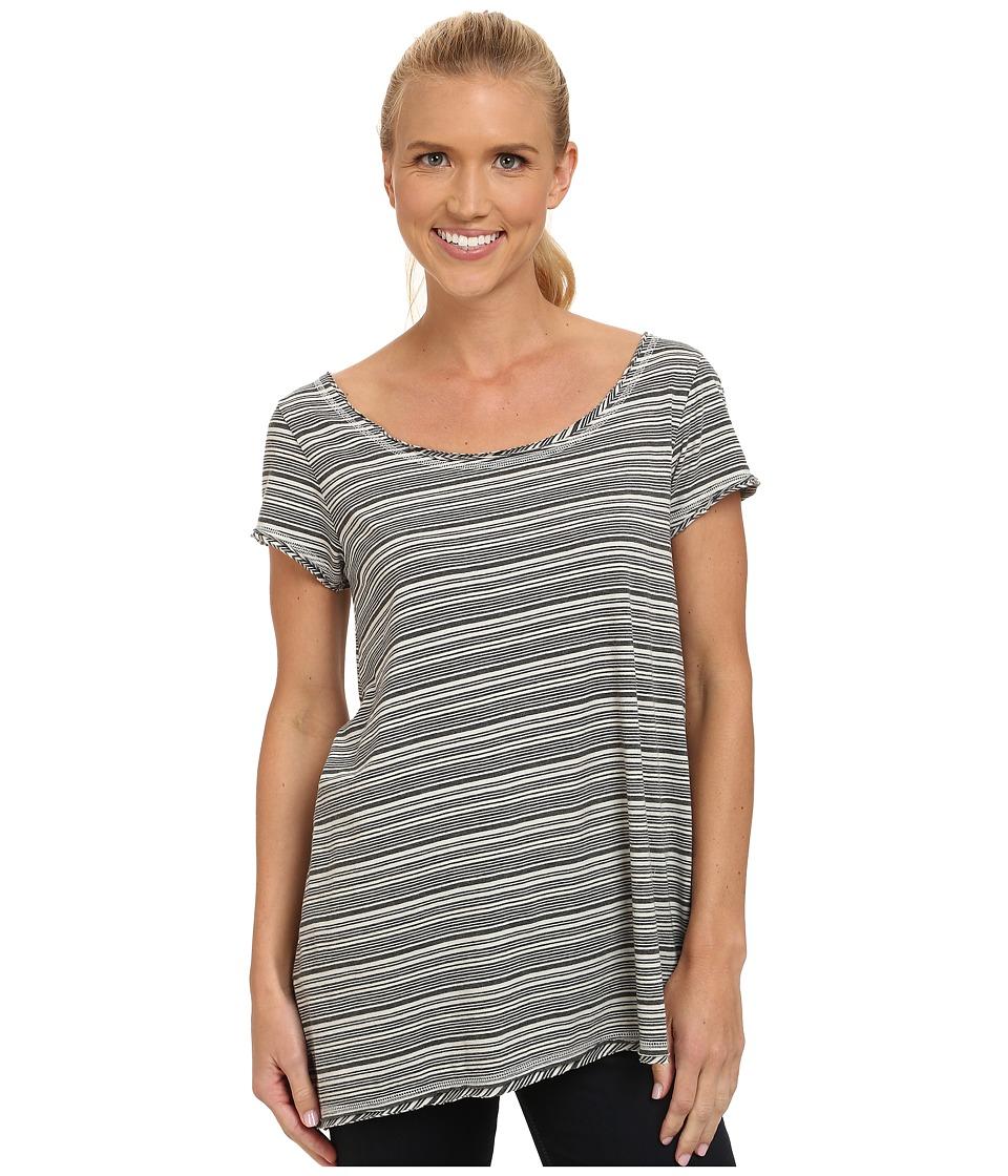 Prana - Elin Top (Winter Stripe) Women's Short Sleeve Pullover