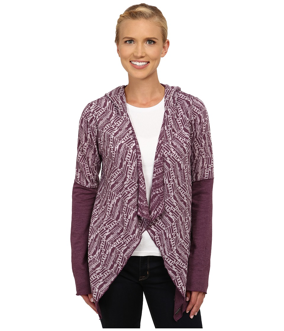 Prana - Graceful Wrap (Black Plum) Women's Sweater