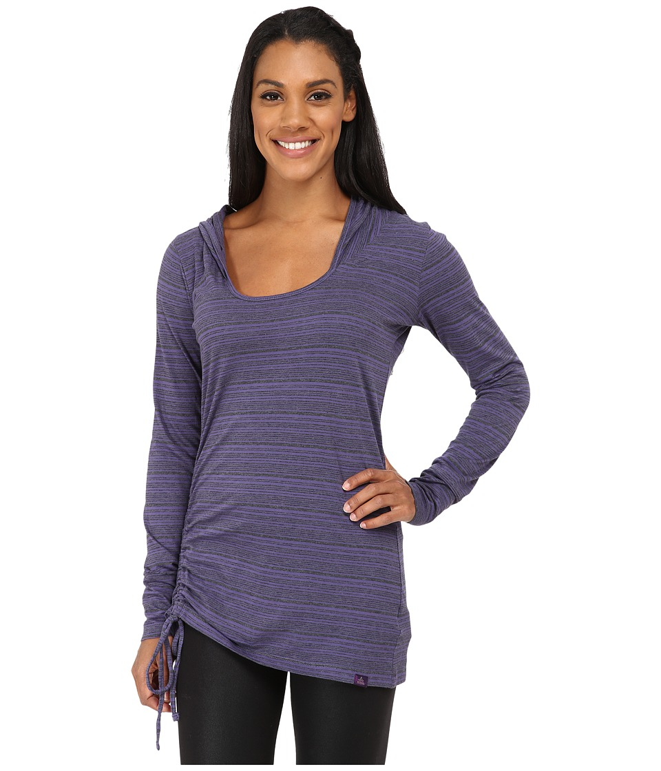 Prana - Vinyasa Hoodie (Antique Velvet Stripe) Women's Sweatshirt