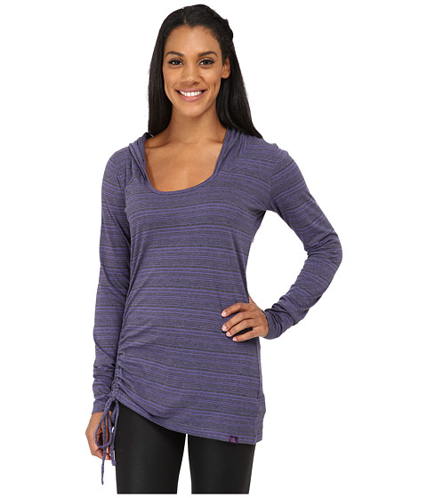 Prana - Vinyasa Hoodie (Antique Velvet Stripe) Women