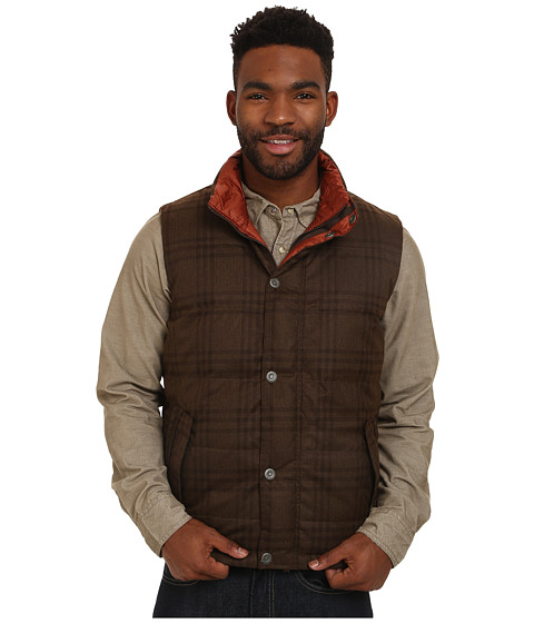 Prana - Portal Reversible Vest (Brown) Men's Vest