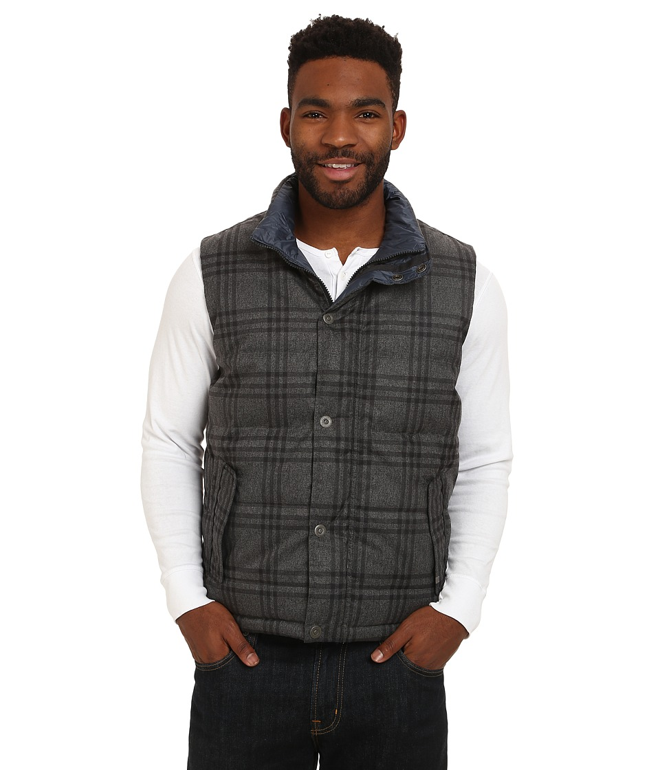 Prana - Portal Reversible Vest (Charcoal) Men's Vest