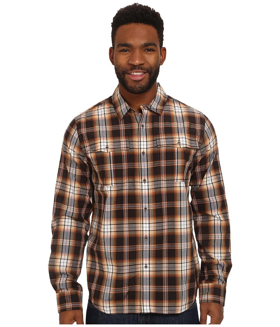 Prana Avesta Long Sleeve Shirt Brown Mens Long Sleeve Button Up