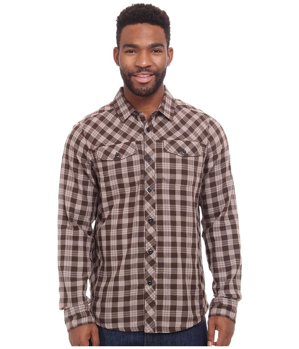 Prana Wesson Long Sleeve Shirt (Brown) Men