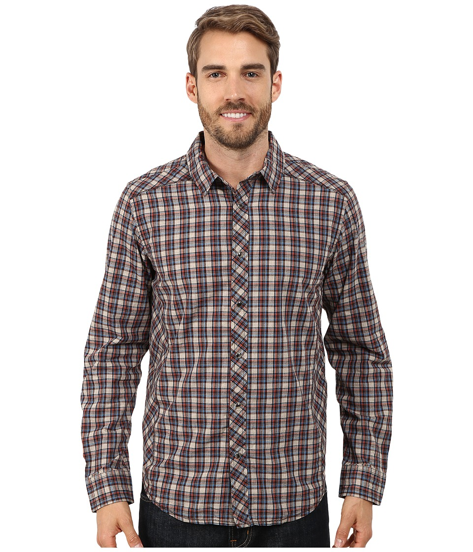 Prana - Archer Long Sleeve Shirt (Dark Khaki) Men's Long Sleeve Button Up