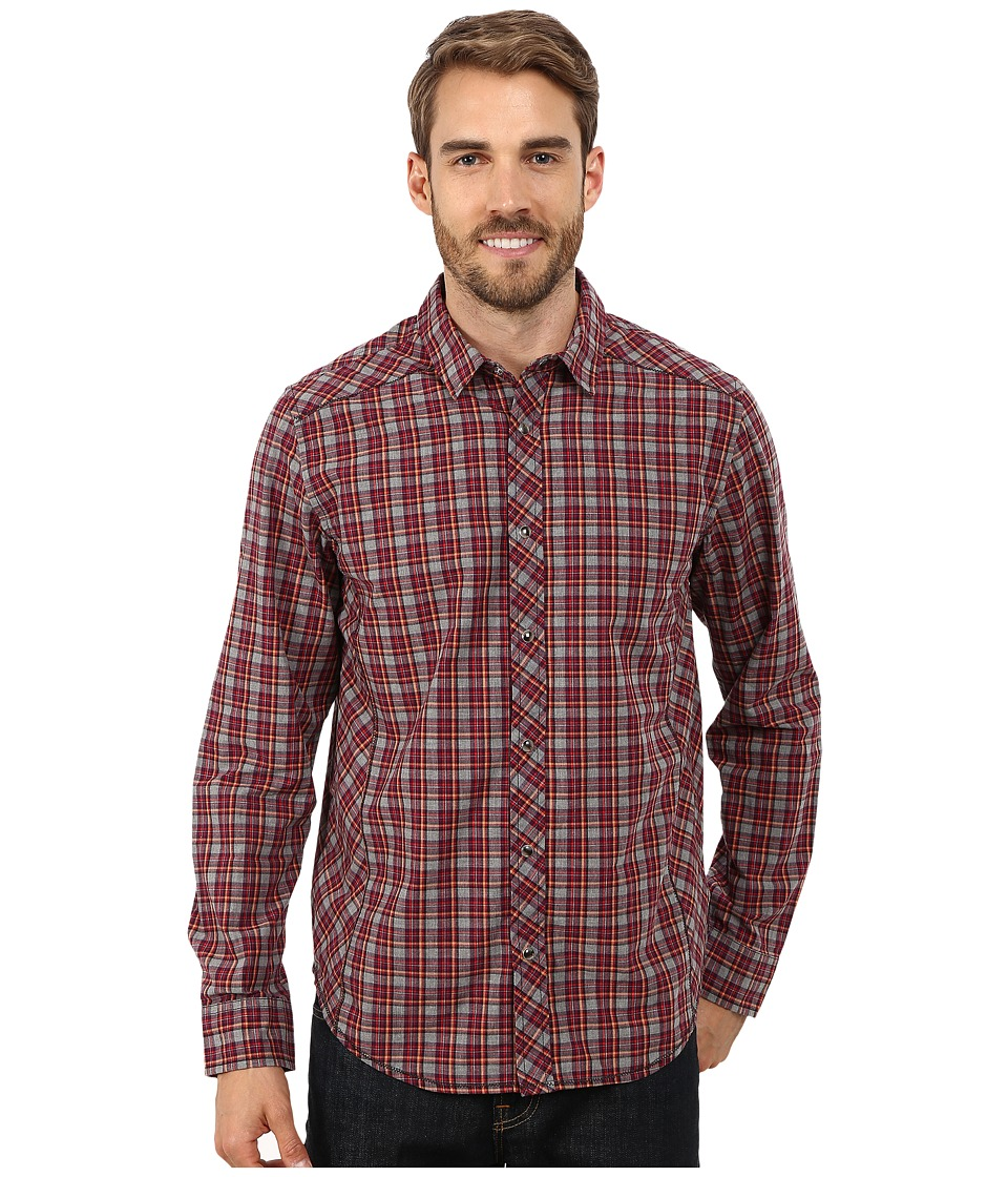 Prana - Archer Long Sleeve Shirt (Grey) Men's Long Sleeve Button Up
