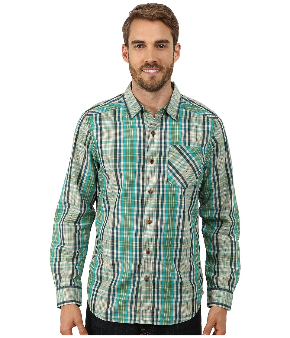 Prana - Fletcher Long Sleeve Shirt (Deep Teal) Men's Long Sleeve Button Up