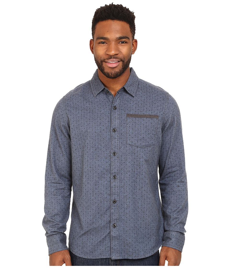 Prana - Dover Long Sleeve Shirt (Dark Cobalt) Men's Long Sleeve Button Up