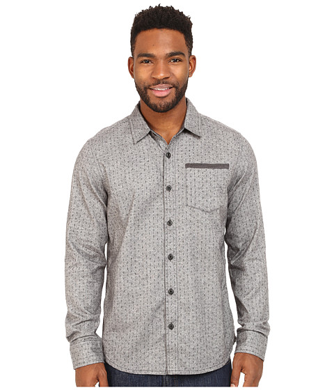 Prana - Dover Long Sleeve Shirt (Gravel) Men