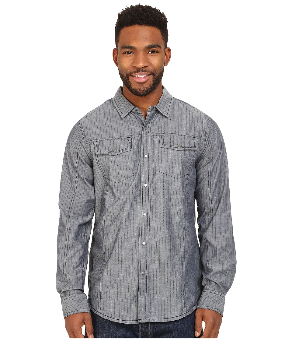 Prana - Hollis Long Sleeve Shirt (Indigo) Men's Long Sleeve Button Up