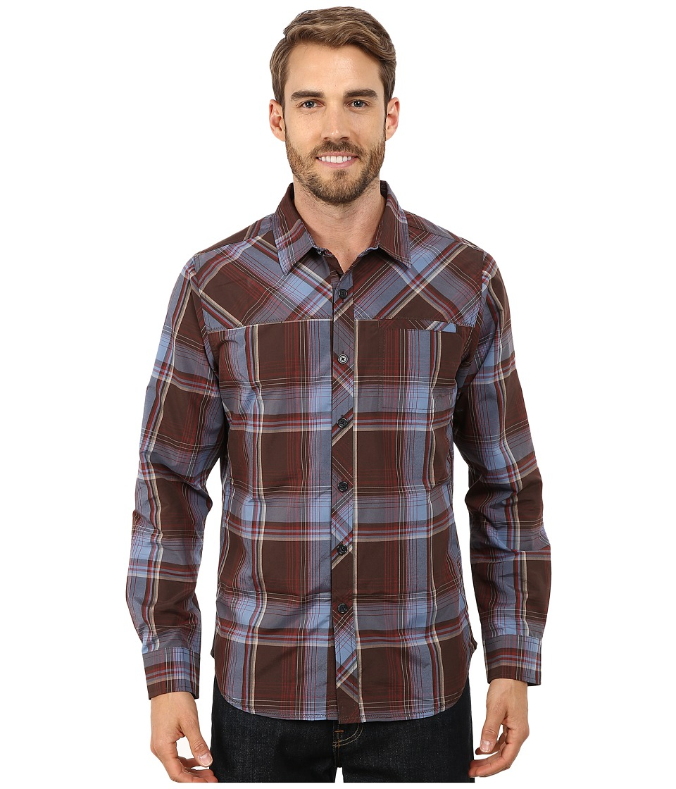 Prana - Farley Long Sleeve Shirt (Espresso) Men's Long Sleeve Button Up