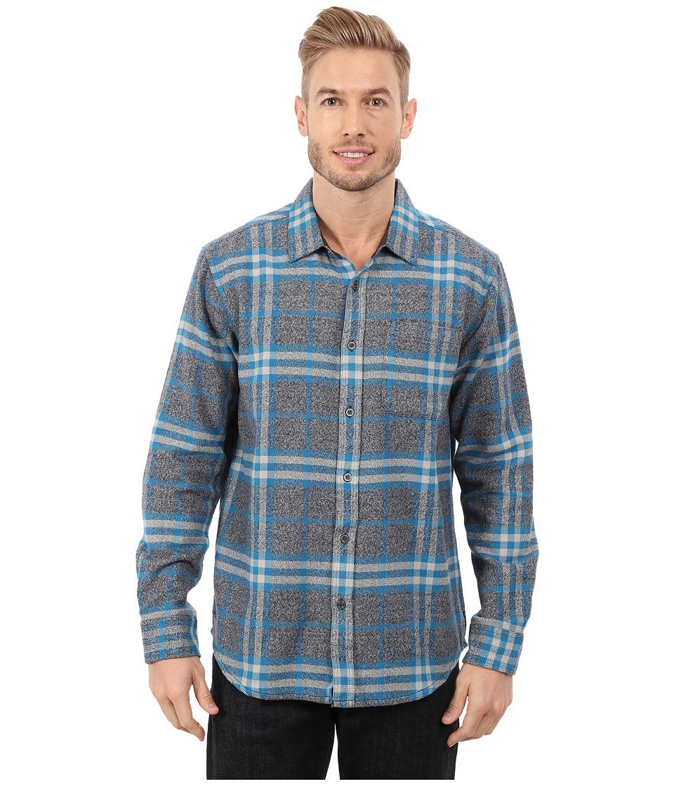 Prana - Woodman Long Sleeve Shirt (Mosaic Blue) Men's Long Sleeve Button Up