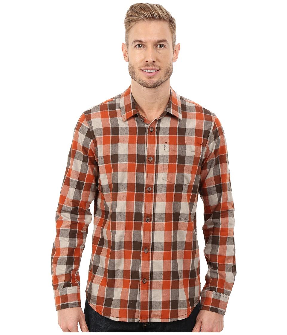 Prana Huntley Long Sleeve Shirt Mud Mens Long Sleeve Button Up