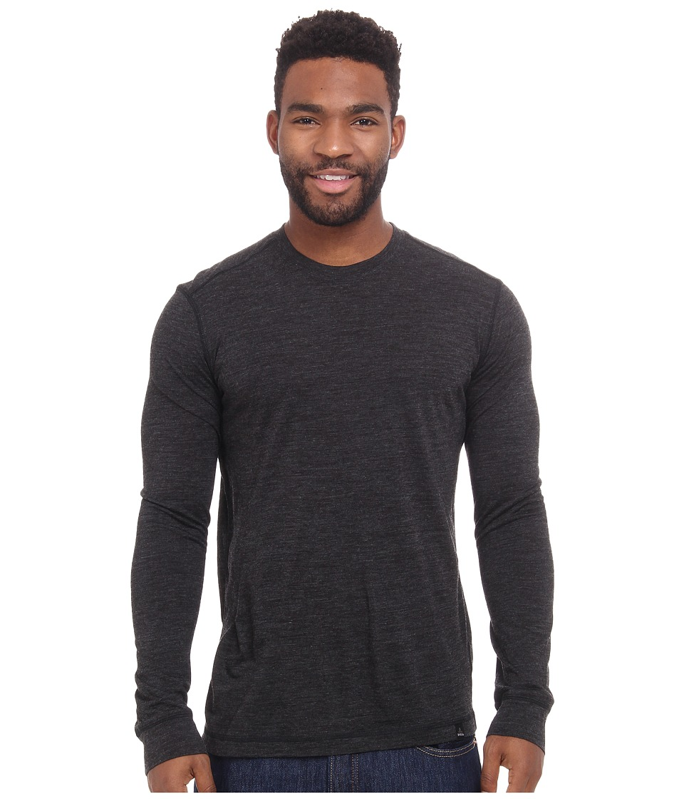 Prana - Stockton Long Sleeve Crew (Black) Men's Long Sleeve Pullover