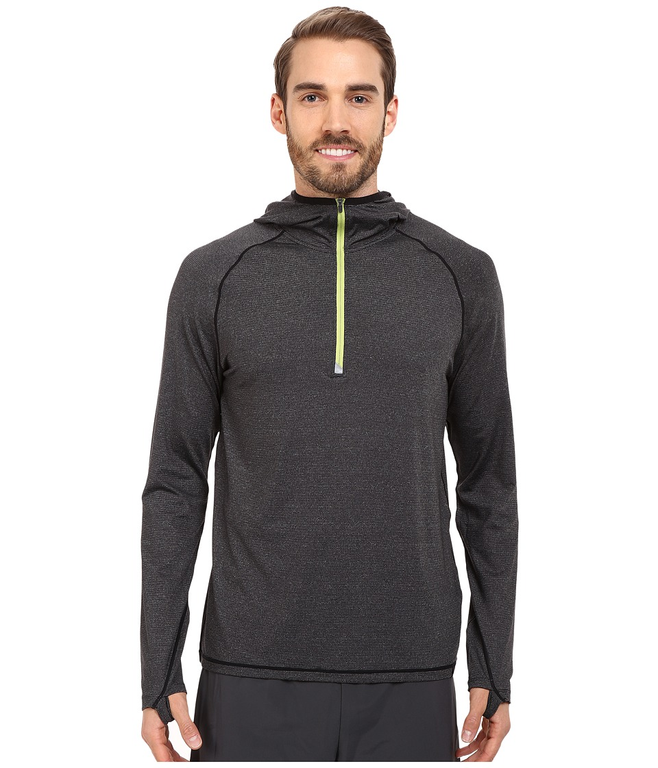 Prana - Breaker 1/4 Zip Hoodie (Black) Men's Sweatshirt