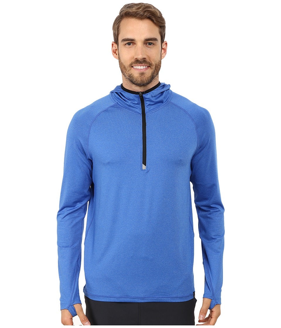 Prana - Breaker 1/4 Zip Hoodie (Classic Blue) Men's Sweatshirt