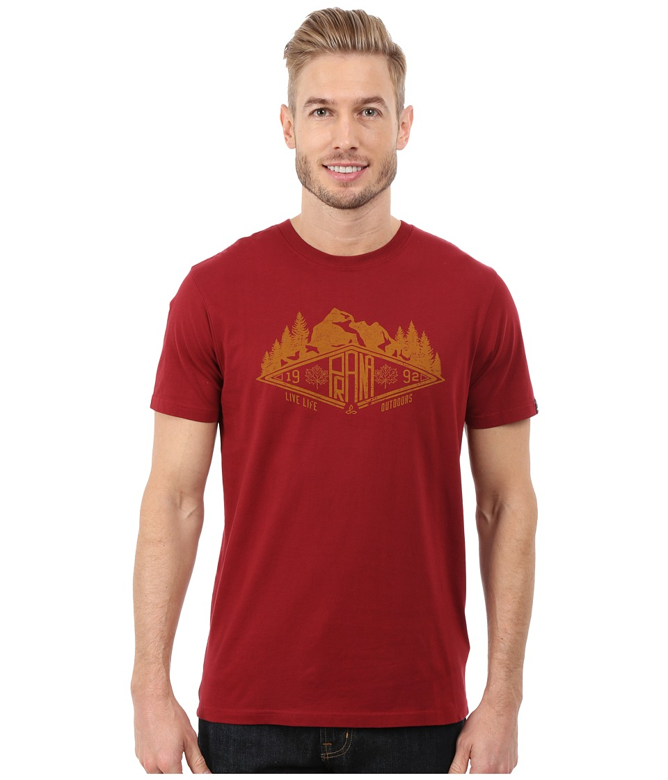 Prana - Scramble Tee (Red Rock) Men