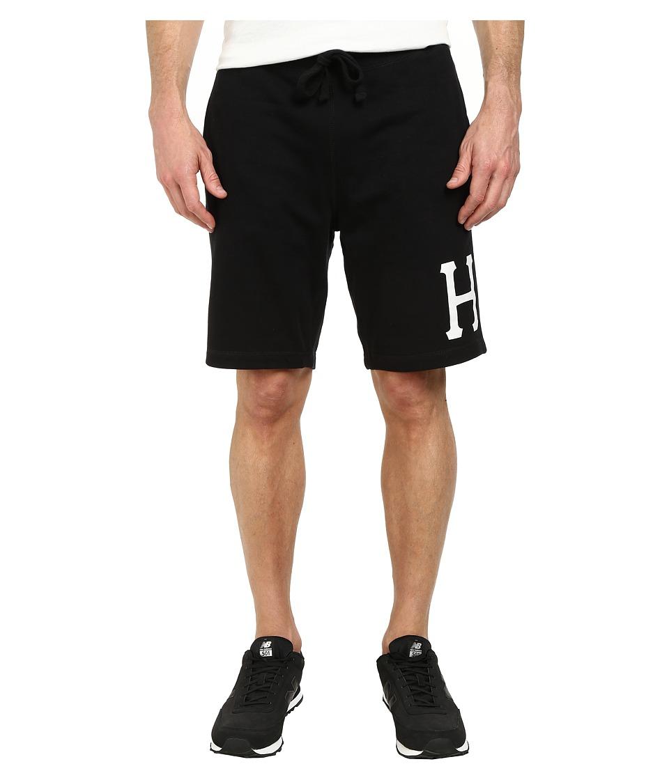 HUF - Classic H Fleece Short (Black) Men's Shorts