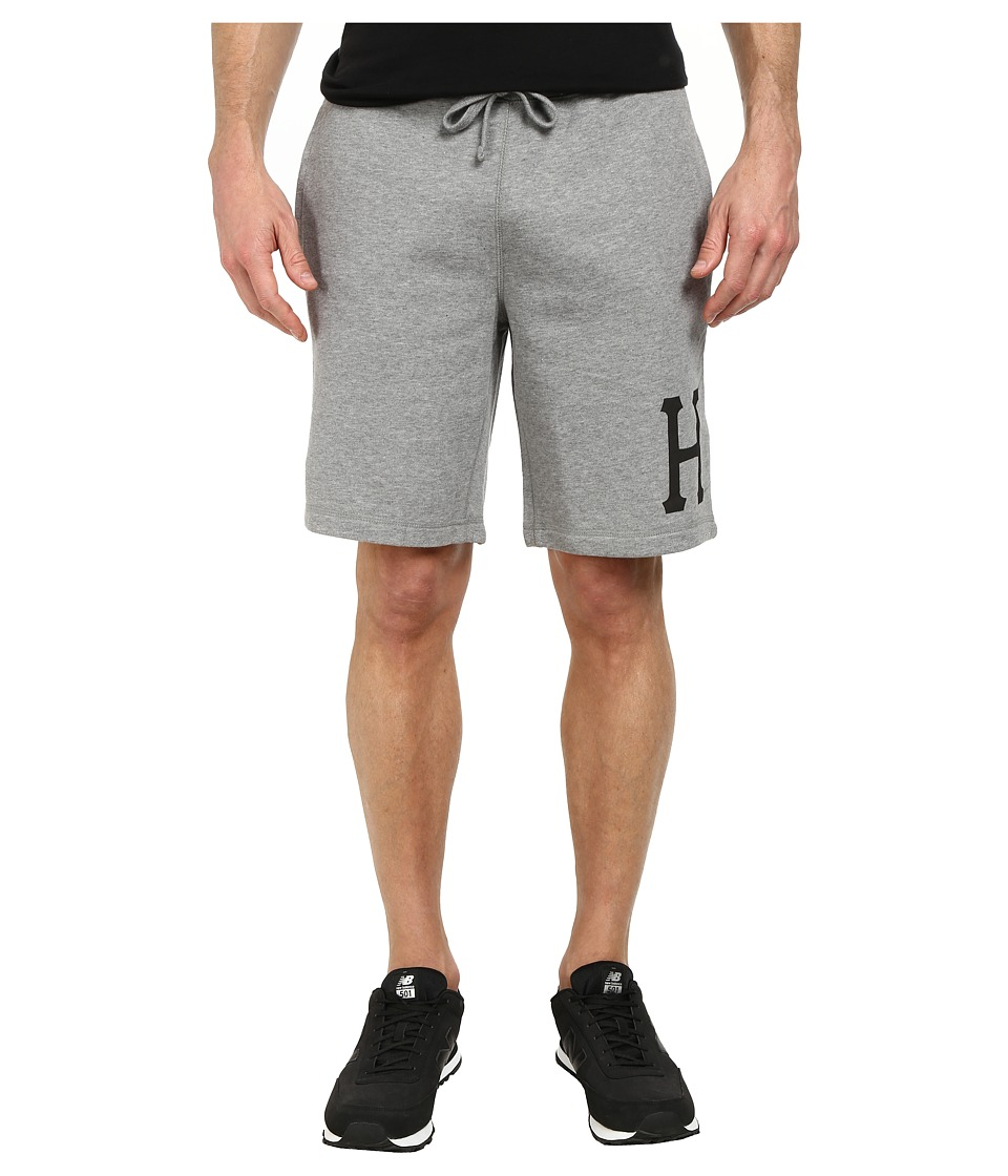 HUF - Classic H Fleece Short (Grey Heather) Men's Shorts