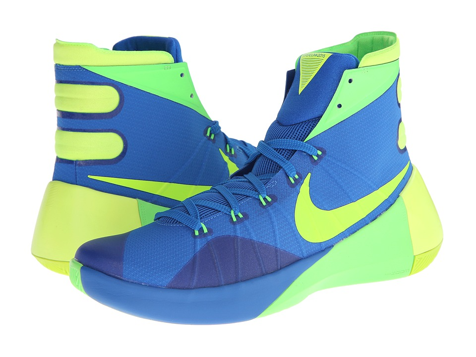 Nike - Hyperdunk 2015 (Soar/Green Strike/Volt) Men