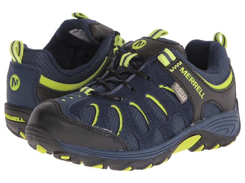 Merrell Kids - Chameleon Low Lace Waterproof (Little Kid) (Navy/Black/Lime) Boys Shoes