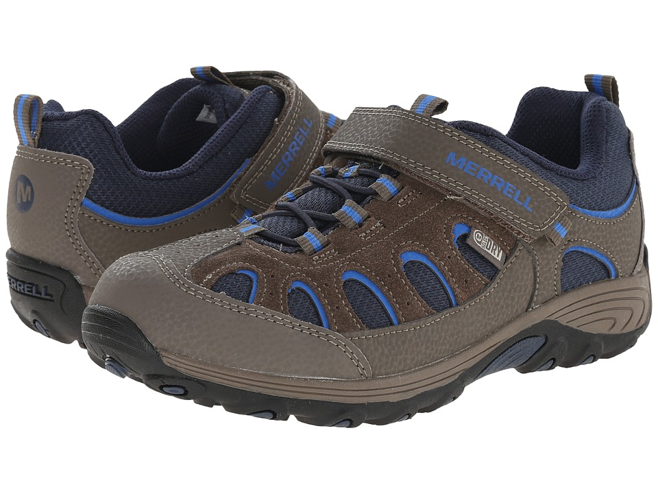 Merrell Kids - Chameleon Low A/C Waterproof (Little Kid) (Gunsmoke/Blue/Black) Boys Shoes