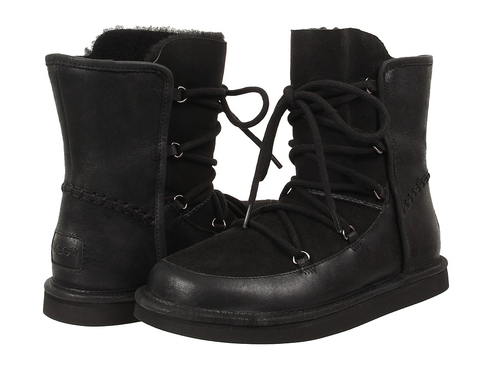 UGG - Lodge (Black Leather) Women's Boots