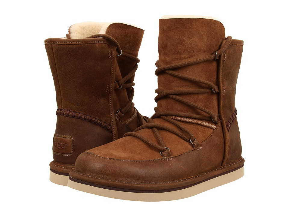 UGG Lodge (Chestnut Leather) Women's Boots