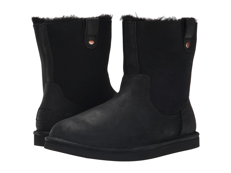 UGG - Sequoia (Black Leather) Women's Boots