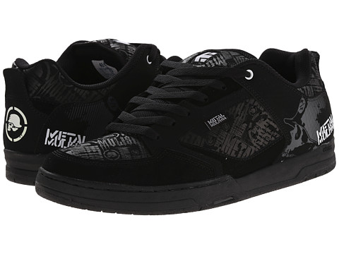 etnies - Metal Mulisha Cartel (Black/Black/White) Men's Skate Shoes