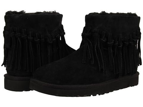 UGG - Wynona Fringe (Black Suede) Women's Boots