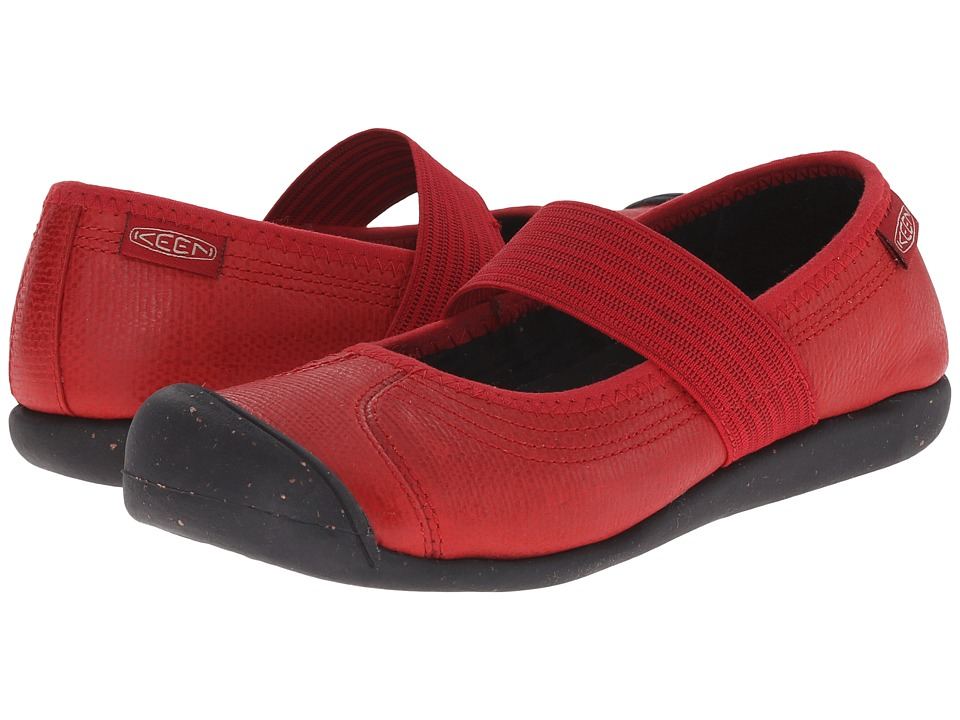 Keen - Sienna MJ Leather (Chili Pepper Pebbled) Women's Maryjane Shoes