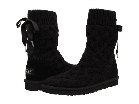 UGG - Isla (Black/Knit) Women's Boots